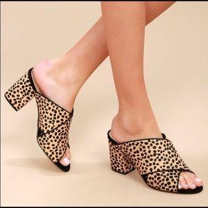 Sole Society NIB Luella Cheetah Dot Fur Mules 8M
